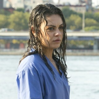 Mila Kunis in On The Set of The Angriest Man in Brooklyn