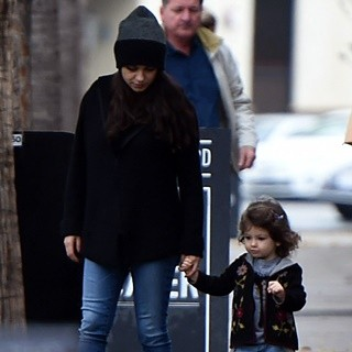 Mila Kunis and Her Daughter Wyatt Kutcher Leaving Joans On Third