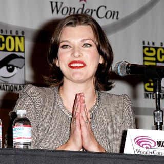 Milla Jovovich in Promoting the new movie Resident Evil: Afterlife at the 2010 WonderCon