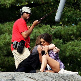 Mila Kunis in Filming on The Set of New Film 'Friends with Benefits'