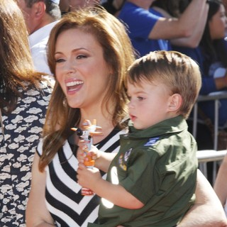 Alyssa Milano, Milo Thomas Bugliari in Los Angeles Premiere of Disney's Planes