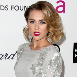 Miley Cyrus in The 20th Annual Elton John AIDS Foundation's Oscar Viewing Party - Arrivals