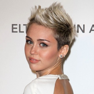 Miley Cyrus in 21st Annual Elton John AIDS Foundation's Oscar Viewing Party