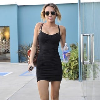 Miley Cyrus in Miley Cyrus Leaving Winsor Pilates on Melrose Avenue