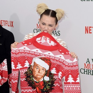 Miley Cyrus - A Very Murray Christmas New York Premiere - Red Carpet Arrivals