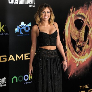 Miley Cyrus in Los Angeles Premiere of The Hunger Games - Arrivals