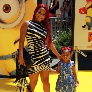 Christina Milian, Violet Madison Nash in Premiere of Universal Pictures' Despicable Me 2
