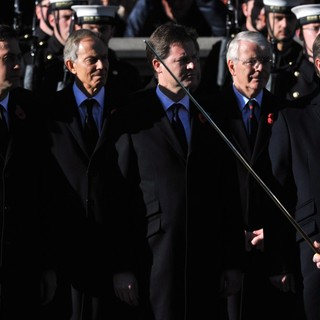Ed Miliband, Tony Blair, Nick Clegg, John Major, David Cameron in Sunday Commemorating Sacrifices of The Armed Forces
