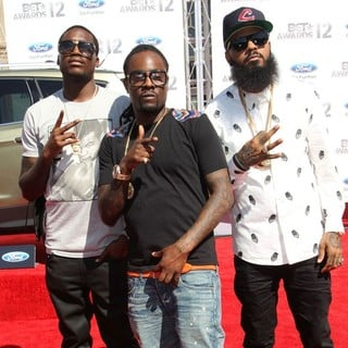Meek Mill, Wale, Stalley in The BET Awards 2012 - Arrivals
