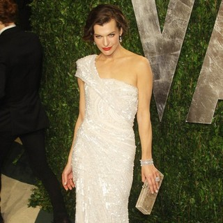 Milla Jovovich in 2012 Vanity Fair Oscar Party - Arrivals