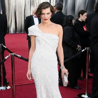Milla Jovovich in 84th Annual Academy Awards - Arrivals