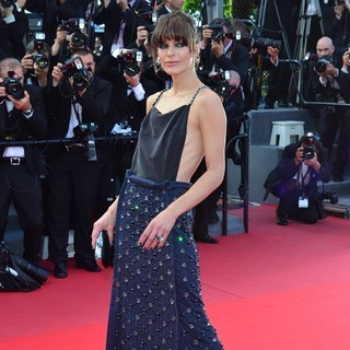 Milla Jovovich in 66th Cannes Film Festival - Behind the Candelabra Premiere