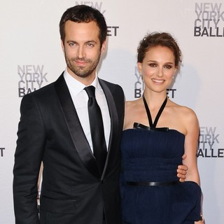 Natalie Portman in 2012 New York City Ballet Spring Gala: A La Francaise - Arrivals - millepied-portman-2012-new-york-city-ballet-01