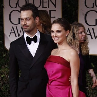 Benjamin Millepied, Natalie Portman in The 69th Annual Golden Globe Awards - Arrivals