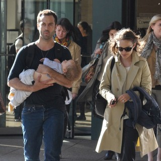 Benjamin Millepied, Natalie Portman in Natalie Portman Spotted with Benjamin Millepied Leaving The Juilliard and SAB Cafe
