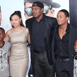Cymphonique Miller, Master P, Lil' Romeo in Tyler Perry's Madea's Witness Protection New York Premiere