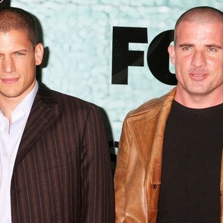 Wentworth Miller, Dominic Purcell in Premiere Party of TV Series Prison Break