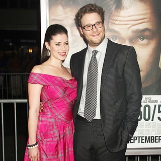 Lauren Miller, Seth Rogen in 50/50 New York Premiere - Arrivals