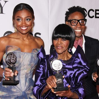 Patina Miller, Cicely Tyson, Billy Porter in The 67th Annual Tony Awards - Press Room