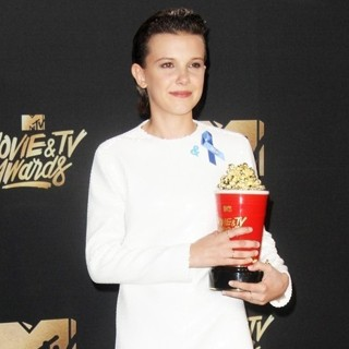 Millie Bobby Brown in 2017 MTV Movie and TV Awards - Press Room
