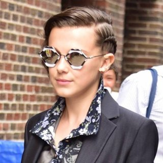 Bobby Brown - Millie Bobby Brown Arrives at The Late Show with Stephen Colbert Studios