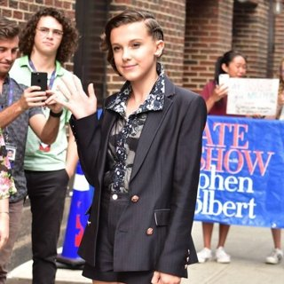 Millie Bobby Brown in Millie Bobby Brown Arrives at The Late Show with Stephen Colbert Studios