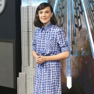 Millie Bobby Brown in Millie Bobby Brown Lights The Empire State Building Blue to Honor World Children's Day