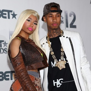 Tyga, Nicki Minaj in The BET Awards 2012 - Press Room