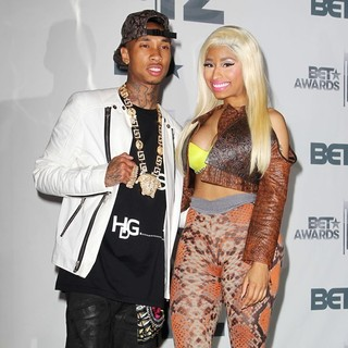 Nicki Minaj, Tyga in The BET Awards 2012 - Press Room