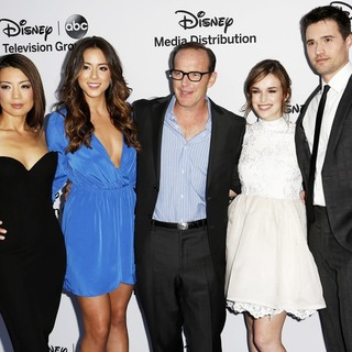Ming-Na, Chloe Bennet, Clark Gregg, Elizabeth Henstridge, Brett Dalton in Disney Media Networks International Upfronts - Arrivals