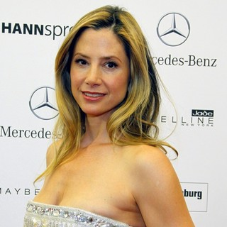 Mira Sorvino in Mercedes-Benz Fashion Week Berlin Spring-Summer 2012 - Basler - Arrivals
