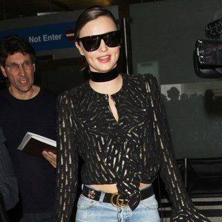Miranda Kerr Arrives at Los Angeles International Airport