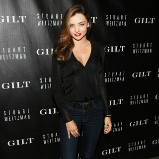 Miranda Kerr in Stuart Weitzman and Gilt Digital Pop-Up Shop Launch
