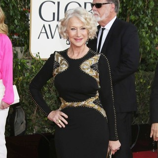 Helen Mirren, Taylor Hackford in 70th Annual Golden Globe Awards - Arrivals