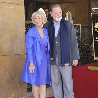 Helen Mirren, Taylor Hackford in Helen Mirren Honored with A Star on The Hollywood Walk of Fame