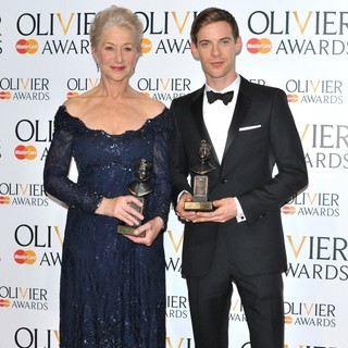 Helen Mirren, Luke Treadaway in The Olivier Awards 2013 - Press Room