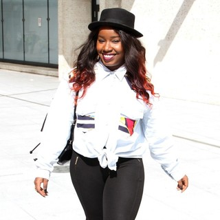 Misha B in Misha B Arrives at The BBC Radio 1 Studios