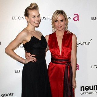 Penelope Mitchell, Radha Mitchell in 21st Annual Elton John AIDS Foundation's Oscar Viewing Party