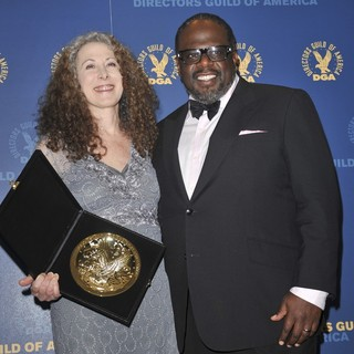 Jill Mitwell, Cedric the Entertainer in 65th Annual Directors Guild of America Awards - Press Room