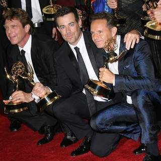 John de Mol, Carson Daly, Mark Burnett in 65th Annual Primetime Emmy Awards - Press Room