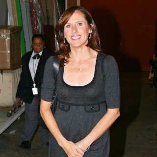 Molly Shannon in Molly Shannon Leaving ABC Studios After Appearing on Live with Regis and Kelly