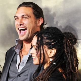 Jason Momoa, Lisa Bonet in The LA Premiere of Conan the Barbarian