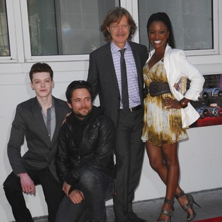 Cameron Monaghan, Justin Chatwin, William H. Macy, Shanola Hampton in Felicity Huffman and William H. Macy Are Honored with Stars at The Hollywood Walk of Fame