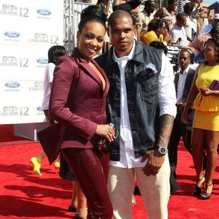 Monica, Shannon Brown in The BET Awards 2012 - Arrivals