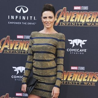 Monique Ganderton in Avengers: Infinity War Premiere