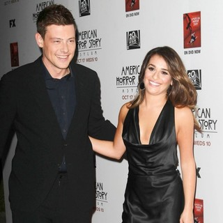 Cory Monteith, Lea Michele in Premiere Screening of FX's American Horror Story: Asylum