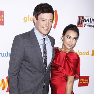 Cory Monteith, Naya Rivera in 23rd Annual GLAAD Media Awards