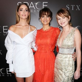 Janet Montgomery, Carla Gugino, Brittany Robertson-Premiere of STX Entertainment's The Space Between Us