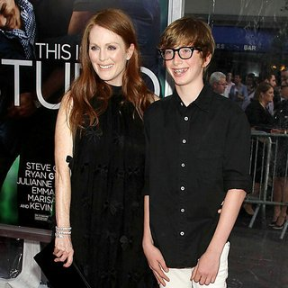 Julianne Moore, Caleb Freundlich in World Premiere of Crazy, Stupid, Love - Arrivals