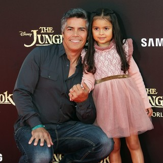 Esai Morales, Mariana Oliveira Morales in World Premiere of Walt Disney's The Jungle Book - Arrivals